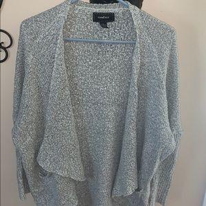 Chunky grey cardigan! Size large!